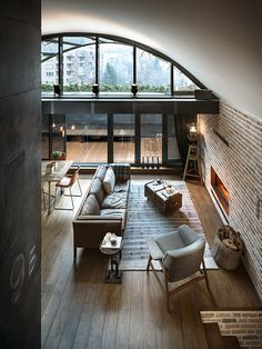 Loft B9 is a spectacular attic apartment in Sofia, Bulgaria. Idealized by interior designer Veneta Nikolova and architect Dimitar Karanikolov, they spent two years reconstructing the stylish place, with pieces of custom designed furniture and experim