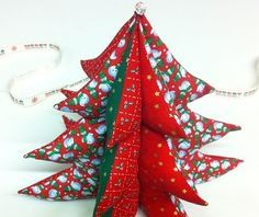 Sew a 3d Christmas tree decoration