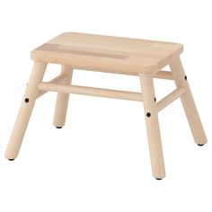 IKEA VILTO Step stool Birch Birch is fine-grained and pale in colour with a satin-like sheen that darkens with age. Birch often has knots or heartwood in cream or light brown giving a distinctive, natural look to your furniture.