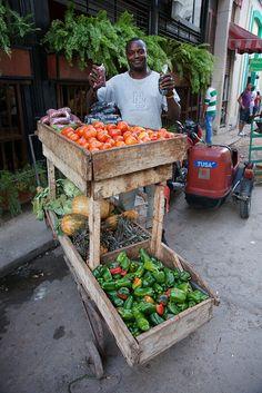 Street vendor Havana Cuba
