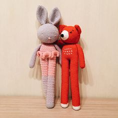 Long-Legged Amigurumi Fox & Rabbit Toys mine @ http://www.ravelry.com/people/emisante