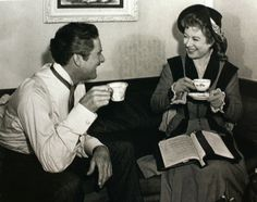 Errol Flynn and Greer Garson got along famously while working together on That Forsyte Woman. Errol wrote in his autobiography that Greer was one of the actresses he enjoyed working with the most.