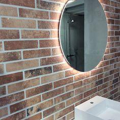 Ikean tiilitapettia kosteaan tilaan.  #ikea  #ikeavantaa Decor, Bathroom Lighting, Lighted Bathroom Mirror, Ikea, Home Decor, Bathroom Mirror, Bathroom, Light, Mirror