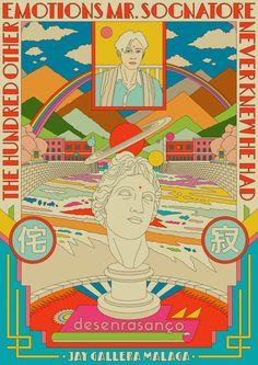 NANG Fiction—online exclusive: The Hundred Other Emotions Mr. Sognatore Never Knew He Had* by Jay Gallera Malaga — NANG - Illustration by Ardneks (© the artist) - Kunst Poster, Poster S, Graphic Design Posters, Graphic Art, Free Illustration, Psychedelic Colors, Art Vintage, Grafik Design, Cool Posters