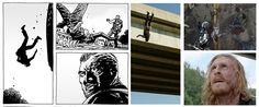 THE WALKING DEAD TEMPORADA 7 EPISODIO 3: SERIE VS CÓMIC: 1.- Este capítulo tiene MUCHAS diferencias que a lo visto en el cómic. 2.- Sabiendo que DARYL NO EXISTE EN LOS CÓMICS, toda su fase como prisionero en el Santuario de Negan solo es un asunto de la Serie, no del Cómic. 3.- Sin embargo, la historia que Daryl vive ahora en el Santuario de Negan pudo ser vista en los cómics desde otro punto que pronto será visto en la serie. 4.- A pesar de que toda la secuencia de Dwight en la carretera…