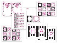 Free Printable Barbie Party Designs | The TomKat Studio