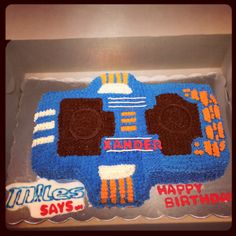 Miles from Tomorrowland Birthday Cake - Blaster Board First on Pinterest !!