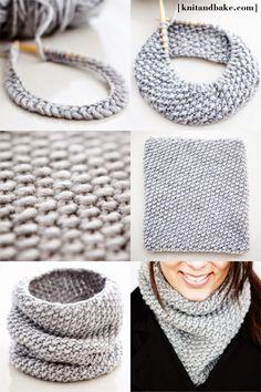 Over wol, patronen, breien en haken....: Supersnelle sjaal in dikke wol