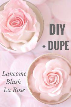 diy lancome la rose blush, la rose blush dupe, lancome rose highlight diy