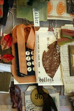autumn inspiration board by Rebecca Sower, via Flickr
