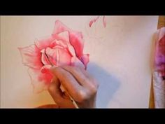 Rose - watercolor paiting process Time Lapse - YouTube