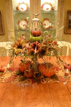 Fall Autumn centerpiece