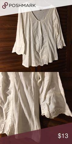 ❌SOLD Tunic❌ Off white cotton tunic. New. Tops Tunics