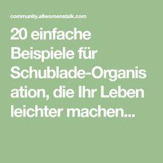 20 einfache Beispiele für Schublade-Organisation, die Ihr Leben leichter machen...