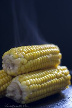 hot corn on the cob