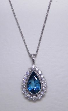 Aquamarine and diamond pendant: would love an alexandrite instead of aquamarine (#1)