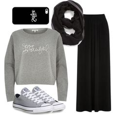 #Hijabista by shehnaz-dec on Polyvore featuring polyvore fashion style River Island Oasis Converse Casetify Halogen