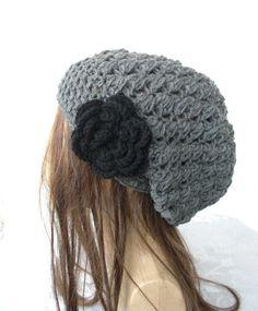 Crochet Hat  Slouch  Hat  Crochet Beanie Hat   Womens hat by Ebruk, $29.00