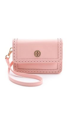Dream treat! Tory Burch Robinson Spectator Mini Cross Body Bag in Shell Pink. $250 from ShopBop!