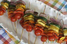 Wildtree's Rainbow Vegetable KabobsRecipe