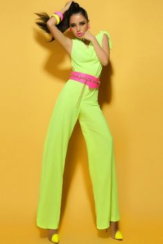 Love this color Green Cowl Collar Jumpsuits