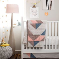 Pattern Casual Crib Bedding - love this modern crib bedding from @landofnod!