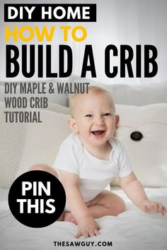 Setting up a nursery for your baby? Building a crib may look intimidating, but we've got you covered with our step–by–step guide on how to build a beautiful maple and walnut wooden crib after the jump. #thesawguy #DIYcrib #howtobuildacrib #newmom #babycrib #babynursery #DIYnursery