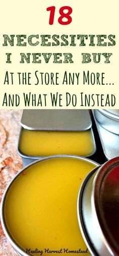 Did you know you can save a ton of money by making things yourself? Easy things too. Plus it's more healthy for your family. Here are 18 Necessary Items I never ever buy from the store anymore, plus another list of things buy minimally...and what I do instead. Find out how to save money, be healthier, and enjoy a creative life by learning how to make your own things.