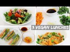 3 Easy Healthy Vegan Lunch Ideas - YouTube