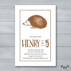 Hedgehog Birthday Party Invitation    by PandafunkCreations