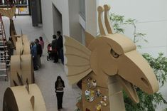 Cardboard Sculpture, Cardboard Paper, Cardboard Crafts, Viking Party, Stone Gallery, Dragon Birthday, Wood Cutting, Paper Cutting, Mixed Media Artists