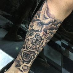 Forearm Name Tattoos, Outer Forearm Tattoo, Forarm Tattoos, Leg Tattoos, Tatoos, Half Sleeve Tattoos For Guys, Full Sleeve Tattoos, Tattoo Sleeve Designs, Tattoo Designs Men