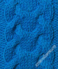 узор 409 - cable knitting stitch