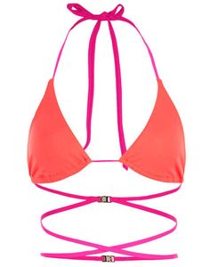 da69179d51 Women s halter-neck bikini top crafted from stretch fabric. It features  soft triangle cups