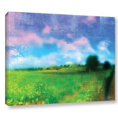 ArtWall Greg Simanson Homeland Gallery-wrapped Canvas, Size: 36 x 48, Blue