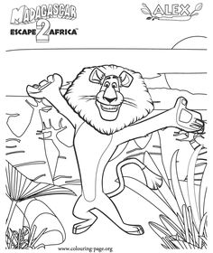 Ice age a character and the high on pinterest for Madagascar characters coloring pages