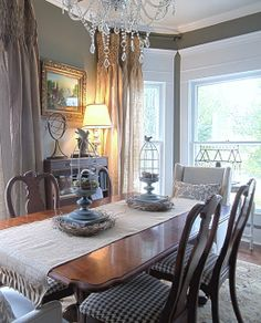 smocked drop cloth curtains