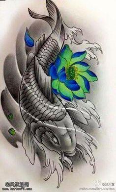 Japanese Koi Fish Tattoo, Koi Fish Drawing, Japanese Tattoo Designs, Samurai Tattoo Sleeve, Koi Tattoo Sleeve, Koi Tattoo Design, Japan Tattoo Design, Gear Tattoo, Bicep Tattoo