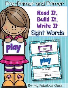 Read It, Build It, Write It Sight Words