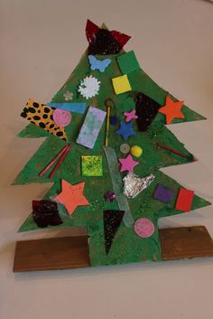 Recycled Materials Christmas Tree - The Imagination Tree