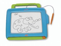Fisher-Price Doodle Pro Classic Blue : Drawing Tablet Toys-This is a great toy for learning hand-eye coordination.