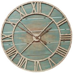 Rustic Teal Wall Clock from pier 1.
