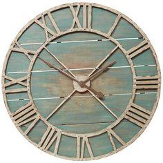 pier 1 | Rustic Teal Wall Clock