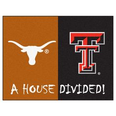 Texas Longhorns/Texas Tech Red Raiders NCAA House Divided All Star Flo