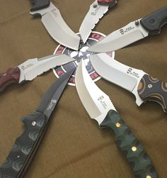Factory productions of Sean Kendrick tactical folding knife and fixed blade designs by HallMark Cutlery / Bad Blood Knives #badbloodknives #hallmarkcutlery #kendrickknives