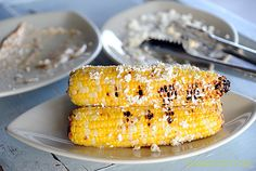Grilled Tajín Cotija Corn ~ add a little Mexican kick to your corn with Tajín (a chili-lime seasoning) and salty, crumbly Cotija cheese.