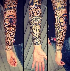 Arm idea #polynesian_tattoo_sleeve