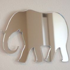 Elephant Mirror - 5 Sizes Available. Also available in Packs of 10 Baby Elephant Crafting Mirrors Elephant Home Decor, Elephant Crafts, Elephant Art, Elephant Room Ideas, Elephant Bathroom Decor, Elephant Stuff, Elephant Bedding, Elephant Nursery, Baby Elephant