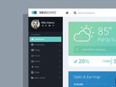 Neuboard Bootstrap Admin Theme - WIP by Jason Kendall -  dashboard