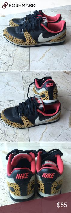 Nike leopard black and red sneakers Nike leopard black and red sneakers. Super cool and stylish! Nike Shoes Sneakers